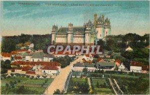 Old Postcard Pierrefonds Vue Generale Cote Sud Ouest du Chateau