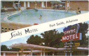 Sands Motel, 611 North Eleventh St. Fort Smith, Arkansas, AR, Chrome