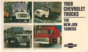 1968 Chevrolet Trucks Dealer's Post Card