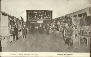 Boston MA Missionary Exposition c1910 Postcard STREET OF NATIONS
