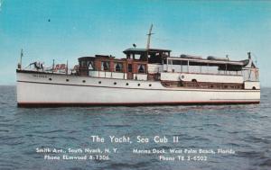 WEST PALM BEACH , Florida , 1950-60s ; The Yacht , Sea Cub II