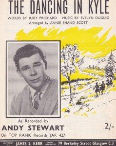 Dancing In Kyle Andy Stewart Scottish 1950s Sheet Music