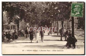 Vichy Old Postcard L & # 39ancien Allee Central Park