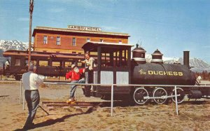 Carcross YT Railroad Station White Pass & Yukon Duchess Train Vintage Postcard