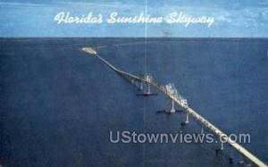 Sunshine Skyway Bridge Tampa Bay FL 1963