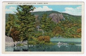 Camden, Maine, Maiden's Cliff And Lake Megunticook