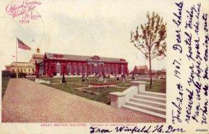 PRE-1907 OFFICIAL SOUVENIR 1904 WORLD'S FAIR ST. LOUIS, MO GR. BRITAIN BLDG 1907