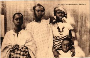 CPA Senegal-Dakar-Jeunes Filles Bambara (235341)