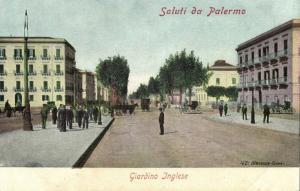 italy, PALERMO, Sicily, Giardino Inglese (1910s) Postcard