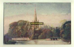 cu0936 - Holy Trinity Church , Stratford-on-Avon , Warwickshire - postcard