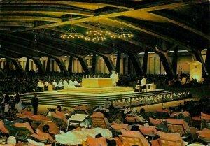 France Lourdes The Underground St Pius X Basilica 1970 Postcard