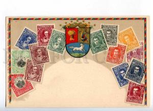 231957 VENEZUELA Coat of arms STAMPS Vintage Zieher postcard