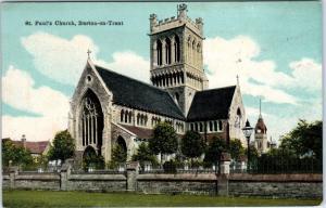 BURTON-ON-TRENT, United Kingdom   ST PAUL'S  CHURCH    c1910s   Postcard