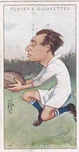Players Vintage Cigarette Card Footballers Caricatures RIP 1926 No 32 W J A D...