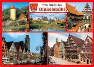 Dinkelsbuehl, Hezelhof Weinmarkt Deutsches Haus Faulturm Tower Auto Cars
