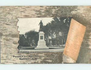 Unused Divided-Back MONUMENT SCENE Rochester New Hampshire NH F2393