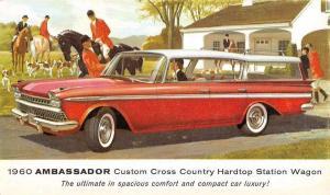1960 Ambassador Hardtop Station Wagon Hunting Dogs Vintage Postcard K107437
