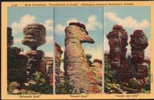 Arizona Rock Formations Wonderland of Rocks Chiricahua National Monument LINEN
