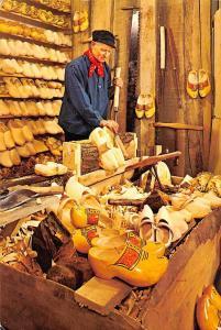 Netherlands Clogmaker in his Workshop near Central Flower Auction Rooms Aalsmeer
