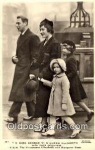King George VI and Queen Elizabeth British Royalty Postcard Postcards  King G...