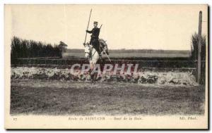Old Postcard School of Saint Cyr Saul Haie Horse Horse Militaria