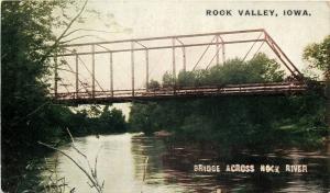 Rock Valley Iowa~Bridge Across Rock River~1910