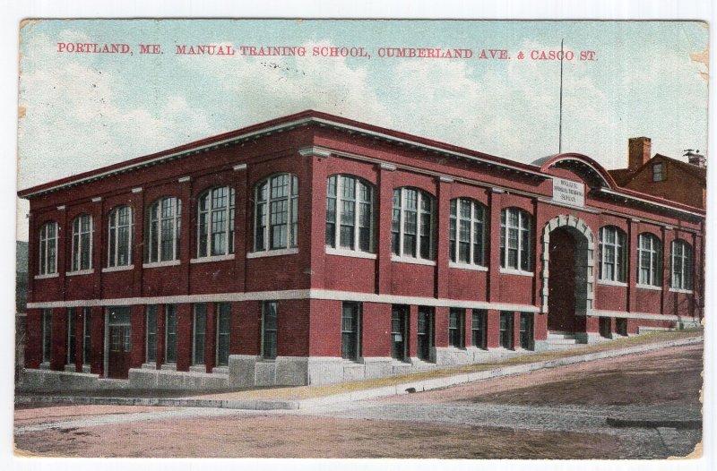 Portland, Me, Manual Training School, Cumberland Ave. & Casco St.
