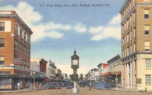 First Street from Park Avenue Sanford, Florida