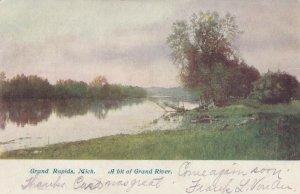 GRAND RAPIDS , Michigan , 1907 ; A bit of Grand River