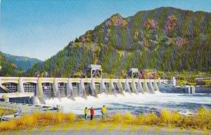 Bonneville Dam Spans The Great Columbia River Portland Maine