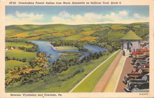 TOWANDA-WYALUSING PA~FRENCH AZILUM LOOKOUT-ANTOINETTE-SULLIVAN-LOT 2 POSTCARDS