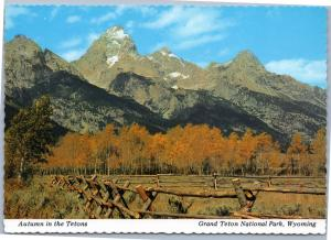 Autumn in the Tetons, Wyoming - Fall foliage and mountains