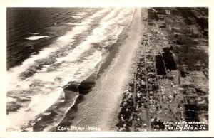 Washington Long Beach Aerial View Real Photo