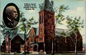 Portland ME~Williston Church~Christian Endeavor Birthplace~Francis E Clark~1910