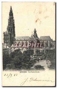 Old Postcard The Cathedral Antwerp