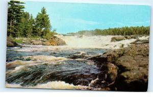 *Curtain Falls Minnesota Canadian Border Crooked Iron Lake Vintage Postcard C75