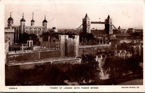 England London Tower Of London With Tower Bridge