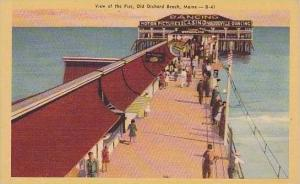 Maine Old Orchard Beach View Of Pier