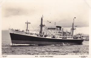 MV Clan Macintyre Scottish Scotland Line Ship Plain Back Postcard Photo