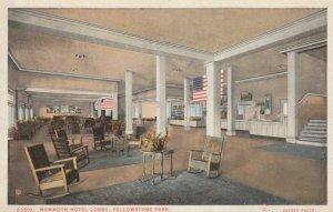YELLOWSTONE PARK, Wyoming, 1910s; Mammoth Hotel Lobby