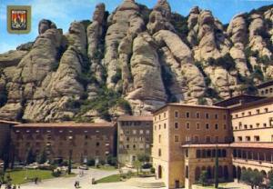 POSTAL 57367: Montserrat vista parcial del Santuario