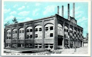 East Palestine, Ohio Postcard City Water & Light Plant Factory Building c1920s