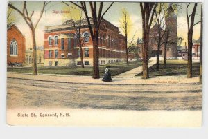 PPC POSTCARD NEW HAMPSHIRE CONCORD STATE STREET UNDIVIDED BACK  HIGH SCHOOL UNIT