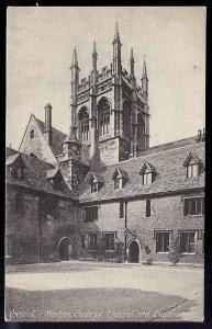 Merton College Chapel Oxford England 1930's unused