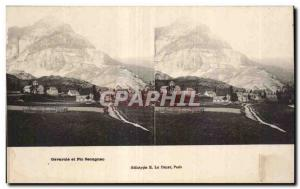 Stereoscopic Card - Gavarnie and Pic Secugnac - Old Postcard