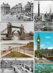 UK - London Glasgow Birmingham and more Postard Lot of 46 with RPPC 01.01