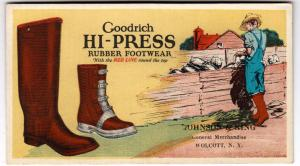 Ink Blotter, Goodrich Hi-Press Footwear, Wolcott NY