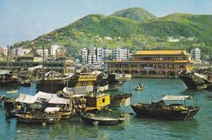 Floating Restaurants , Aberdeen , Hong Kong , China , 50-70s