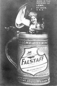 Brewery Post Card Falstaff Beer Girls Unused