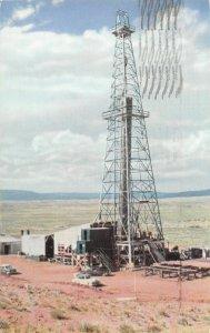 H10/  Vernal Utah Postcard Chrome 1957 Uintah Basin Oil Well Derrick